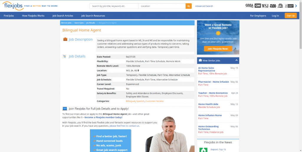 bilingual home agent work from home